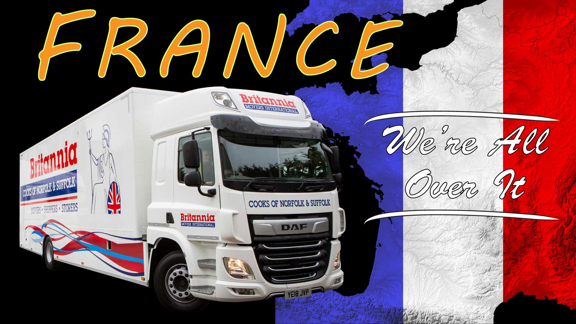 Regular service to France  - Alan Cook Removals - Of all the Norwich Removals Companies we pride ourselves in offering the most prfessional, 