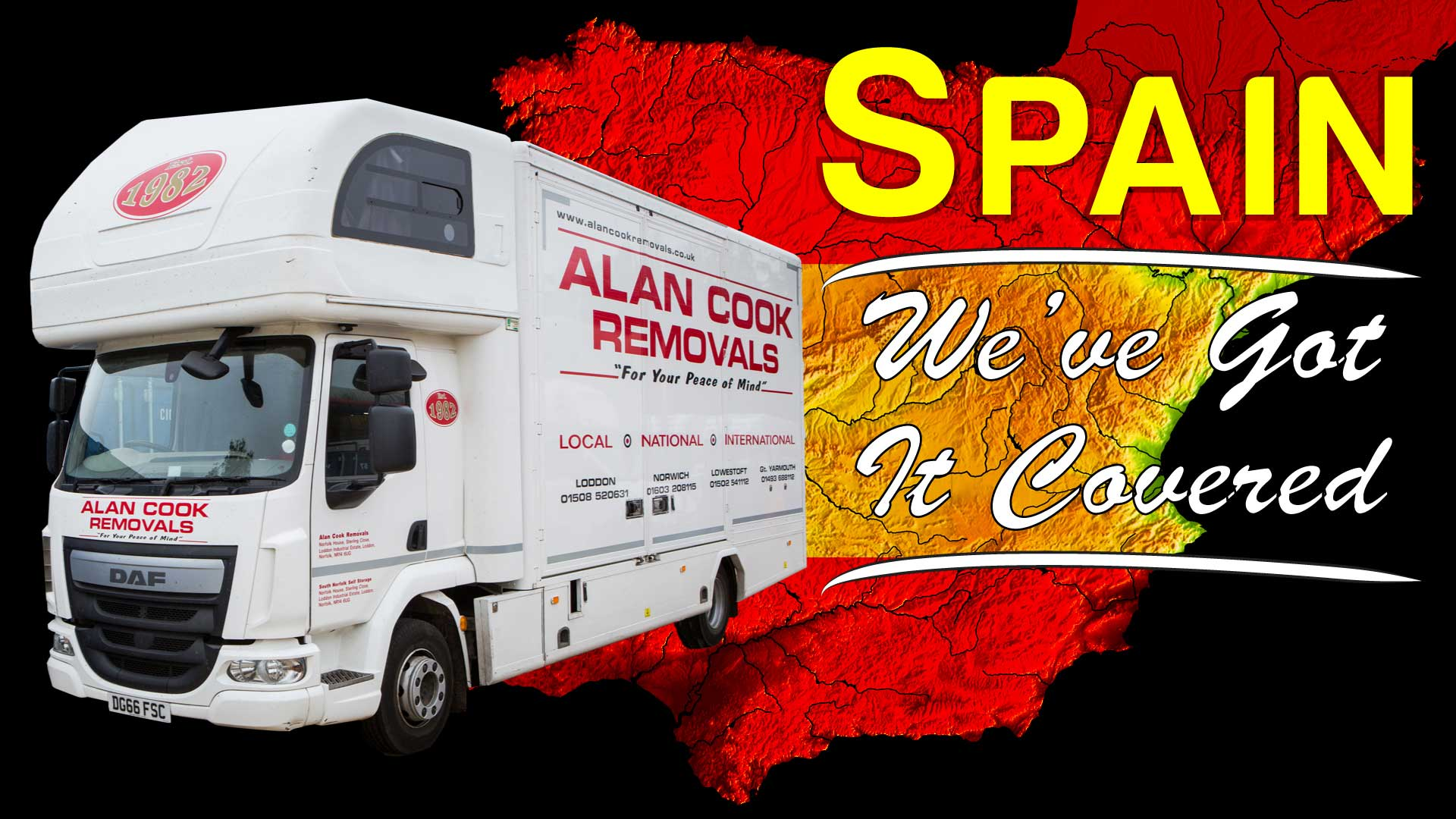 Monthly service to Spain - Alan Cook Removals - Of all the Norwich Removals Companies we pride ourselves in offering the most prfessional, 